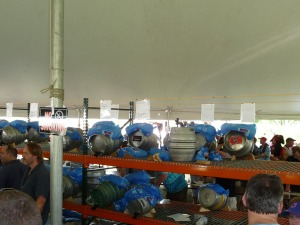 Iced-down Firkins in the Real Ale Tent