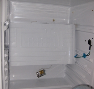 The freezer bent all the way down